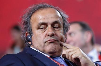 UEFA President Michel Platini looks on before the preliminary draw for the 2018 FIFA World Cup at Konstantin Palace in St. Petersburg, Russia July 25, 2015. REUTERS/Maxim Shemetov